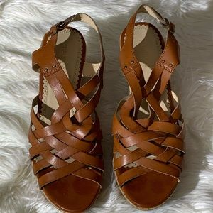 Maurice's Brown Wedge Size 9.5